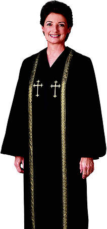 R.T. Wesley Women`s Qwick-ship Clergy Robe