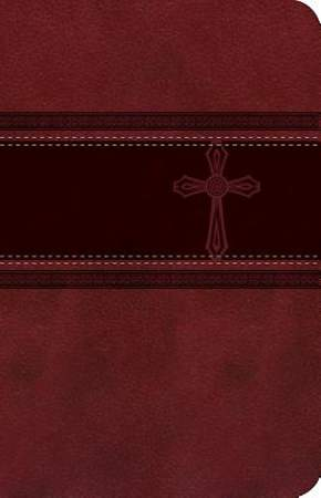 CEB Common English Bible Compact Thin Red DecoTone with Cross