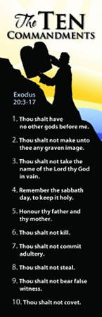 The Ten Commandments Bookmark Package of 25