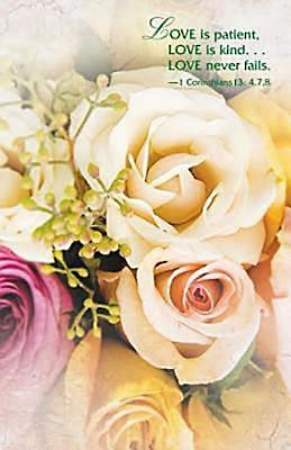 Wedding/Pale Roses Bulletin, Regular Size (Package of 50)