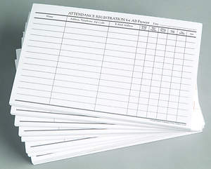 Attendance Registration Pad (Package of 12)