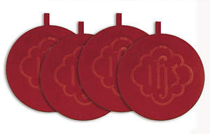 Mats Offering Plate Red (Set of 4)