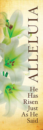 Alleluia Lily Easter Linen Series Banner 2'x6'