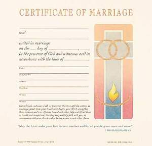 Contemporary Full-Color Marriage Flat Certificate (Package of 12)