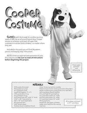 Standard VBS 2014 Jungle Safari Cooper Costume Pattern