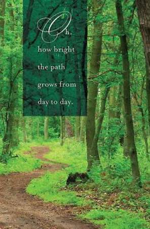 Oh How Bright the Path Hymn Bulletin, Regular (Package of 50)