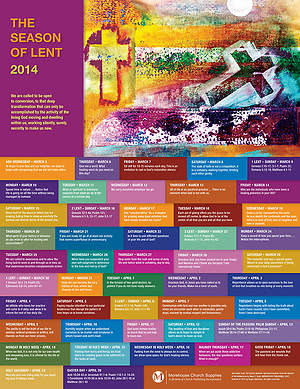 The Season of Lent 2014 Poster (pack of 25)