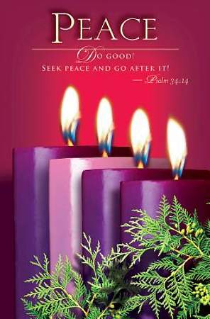Advent Sunday 4 Peace Bulletin 2014, Regular (Package of 50)