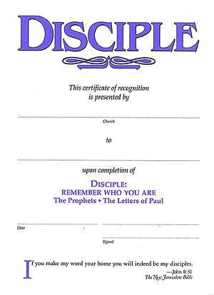 Disciple III Remember Who You Are: Certificates (Package of 6)