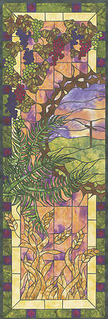 Stained Glass Easter Left-view Banner 2 X 6