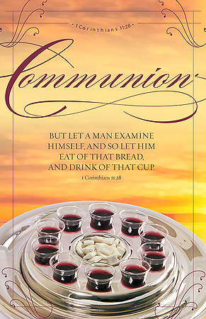 The Bread and the Cup Communion Bulletin - I Corinthians 11:28 - 8 1/2