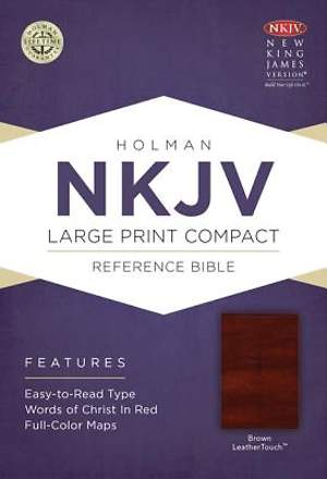 Large Print Compact Reference Bible-NKJV-Celtic Cross