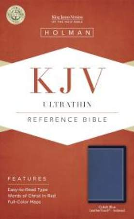 KJV Ultrathin Reference Bible, Cobalt Blue Leathertouch, Indexed