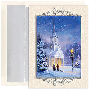 Candlelit Church Christmas Collection Boxed Cards - Box of 18