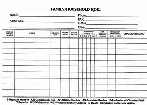Family Household Roll Card (Package of 100)