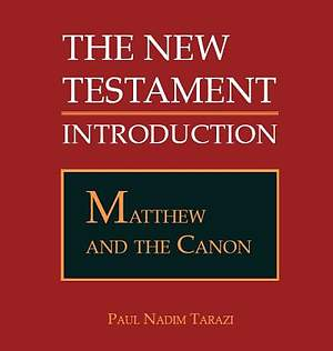 Matthew and the Canon [Adobe Ebook]