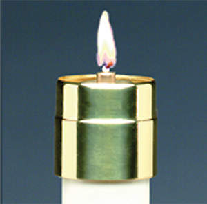"Elite Lite Disposable Liquid Candle Brass Follower 1 1/8"" (Set of 7)"