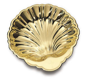 Large Solid Brass Baptismal Shell