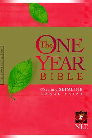 Bible NLT One Year Premium Slimline Large Print 10th Anniversary