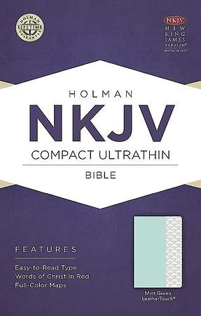 NKJV Compact Ultrathin Bible, Mint Green Leathertouch