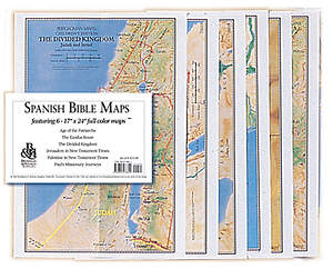 Spanish Bible Maps, set of 6