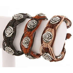 Thai Macrame Bracelet - Big Flower  Adjustable