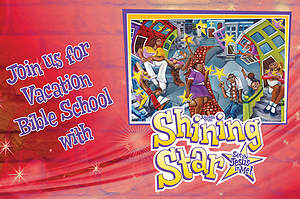 Vacation Bible School (VBS) 2015 Shining Star Invitation Postcards (Pkg of 25)