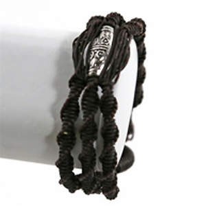 Thai Macrame Bracelet - Long Metal  Adjustable