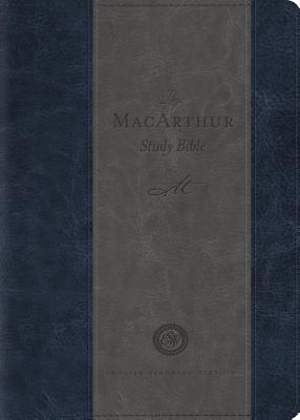 ESV MacArthur Study Bible, Personal Size (Trutone, Charcoal/Blue)