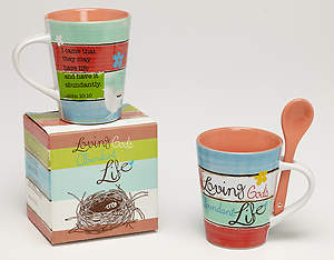 Loving God's Abundant Life Mug with Spoon