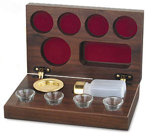 Solid Walnut Communion Set