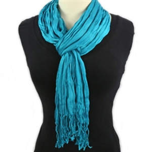 Thai Twisted Scarf - Aqua