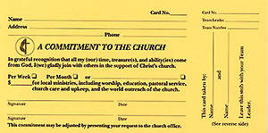 A Commitment To The Church Pledge Card (Package of 100)