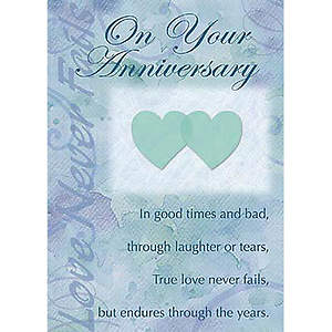 """On Your Anniversary"" Card Pkg 6"