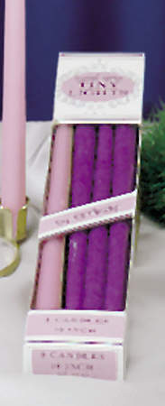 "Advent Refill 10"" x 7/16"" Candle 6 Purple 2 Pink"