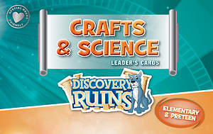 Standard VBS 2015 Blast to the Past Crafts & Science Leader's Cards - Elem/PreTeen
