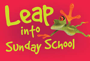 Leap Into Sunday School Frog Postcard (Package of 25)