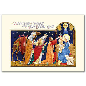 Worship Christ the New Born King Boxed Cards