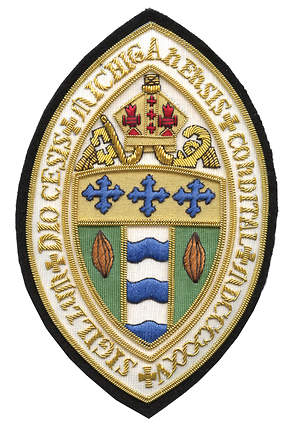 Hand Embroidered Diocesan Seal - Diocese of Michigan