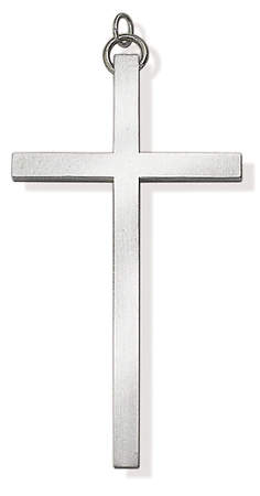 SILVERPLATE TRADITIONAL CLERGY CROSS