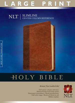 New Living Translation Slimline Center Column Reference Bible Large Print