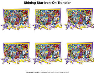 Vacation Bible School (VBS) 2015 Shining Star Iron-On Transfers (Pkg of 12)