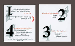 1-2-3-4 About United Methodist Card (Package 100)