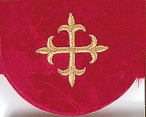 Pocket Usher Badge with Cross on Red Bermberg Damask (package of 4)