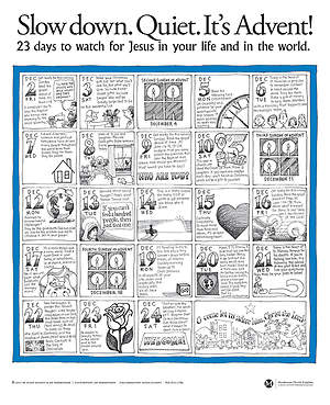 SLOW DOWN QUIET ADVENT POSTER 2012 (PACK OF 25)