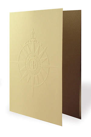 Embossed Anglican Compass Rose Card (Package of 8)