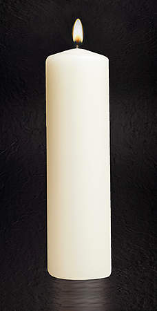 "Christ Plain 11"" X 3"" Candle"