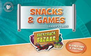 Standard VBS 2015 Blast to the Past Snacks & Games Leader's Cards - Elem/PreTeen