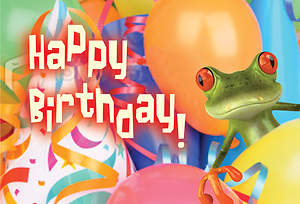 Happy Birthday Frog Postcard (Package of 25)