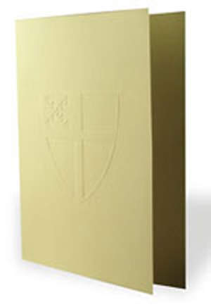 Episcopal Embossed Shield Note Cards with Envelope (Package of 8)
